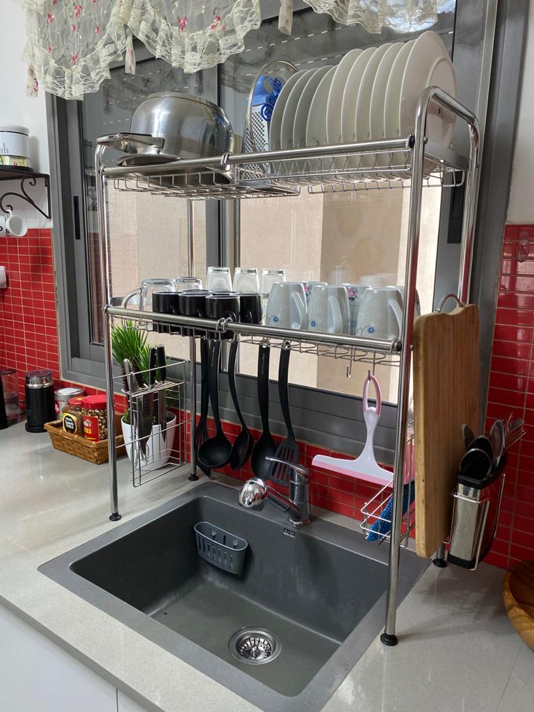 מתקן איכותי ומעוצב לייבוש כלים מעל הכיור