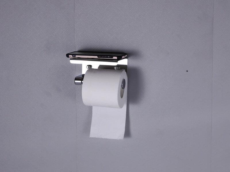 מעמד-לנייר-טואלט עם נייר טוואלט ופלפון מבט מקדימה