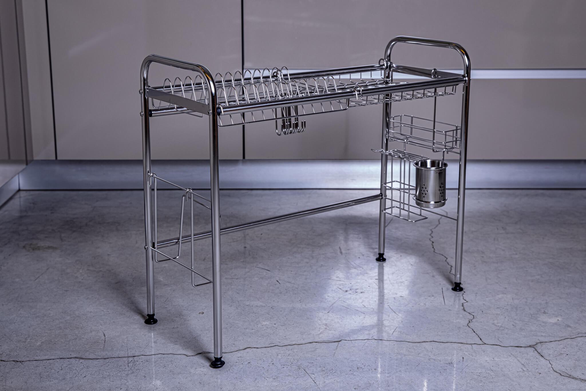 מתקן לייבוש כלים מעל הכיור קומה אחת אורך 108 ס״מ